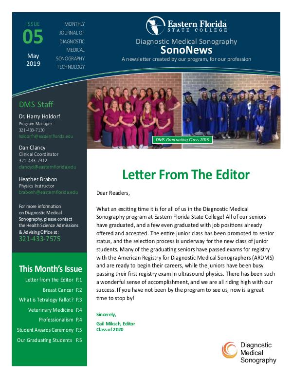 Diagnostic Medical Sonography News May 2019