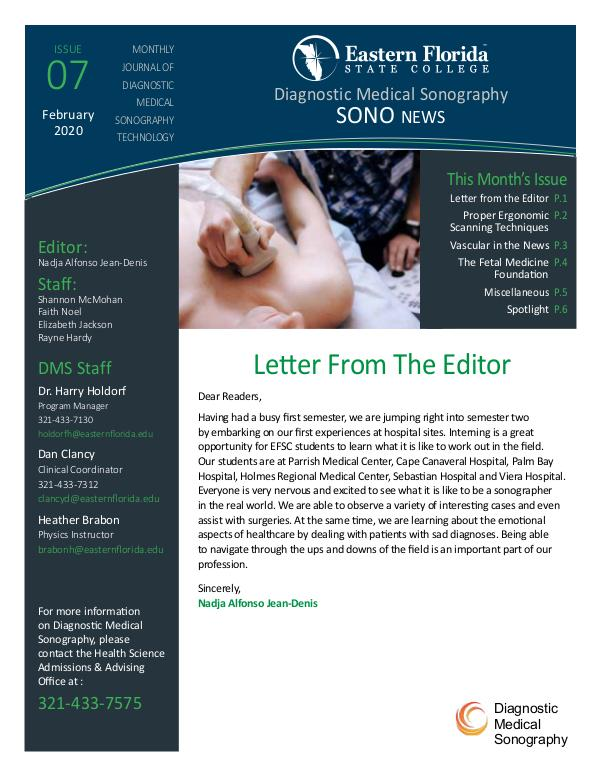 Diagnostic Medical Sonography News February 2020