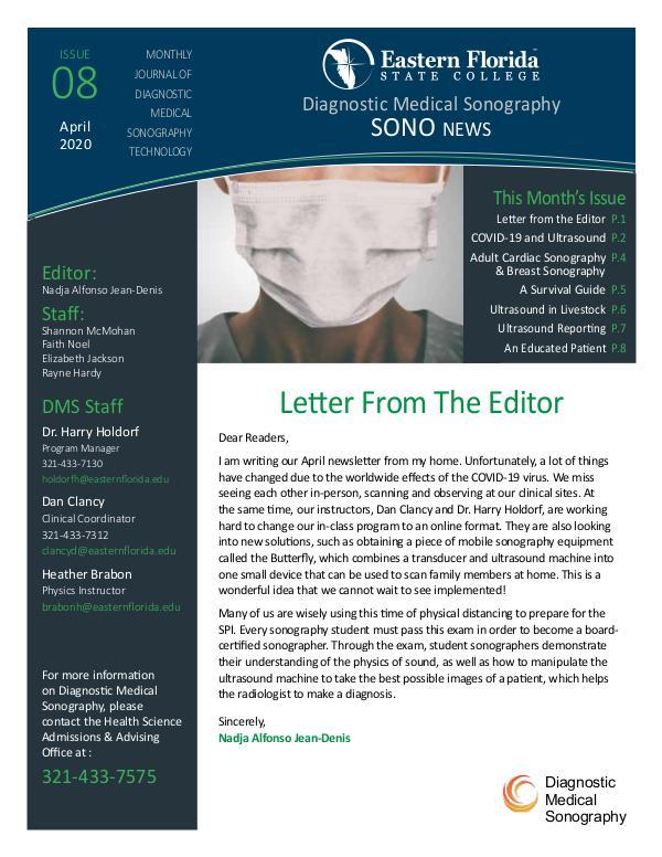 Diagnostic Medical Sonography News April 2020