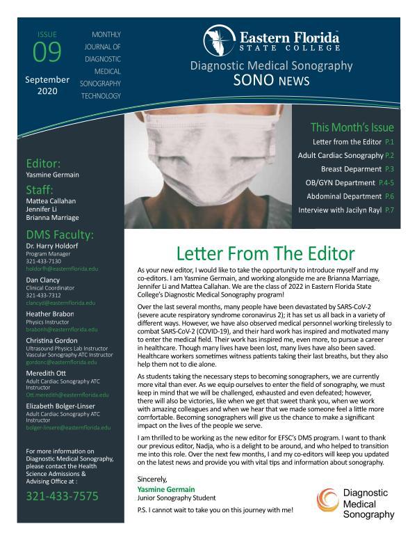 Diagnostic Medical Sonography News September 2020