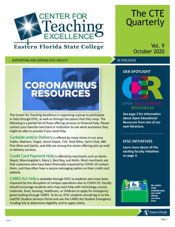 CTE Newsletter October 2020