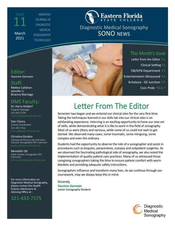 Diagnostic Medical Sonography March 2021