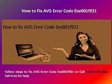 AVG Error Code 0xe001f921 by AVG Support UK 08000903966