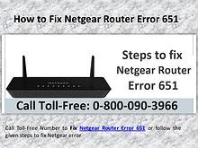 Steps to fix Netgear router Error Code 651 Call 0-800-090-3966
