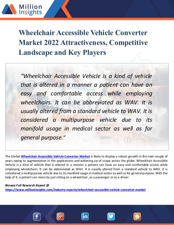Market New Research Wheelchair Accessible Vehicle Converter Market
