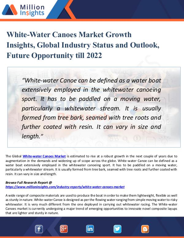 Market New Research White-Water Canoes Market Growth Insights 2022