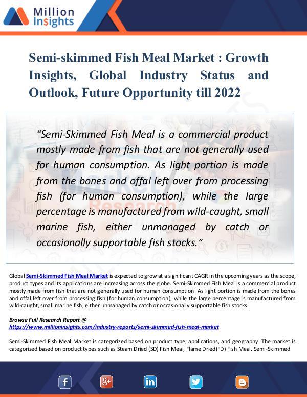 Semi-skimmed Fish Meal Market Growth Insights 2022