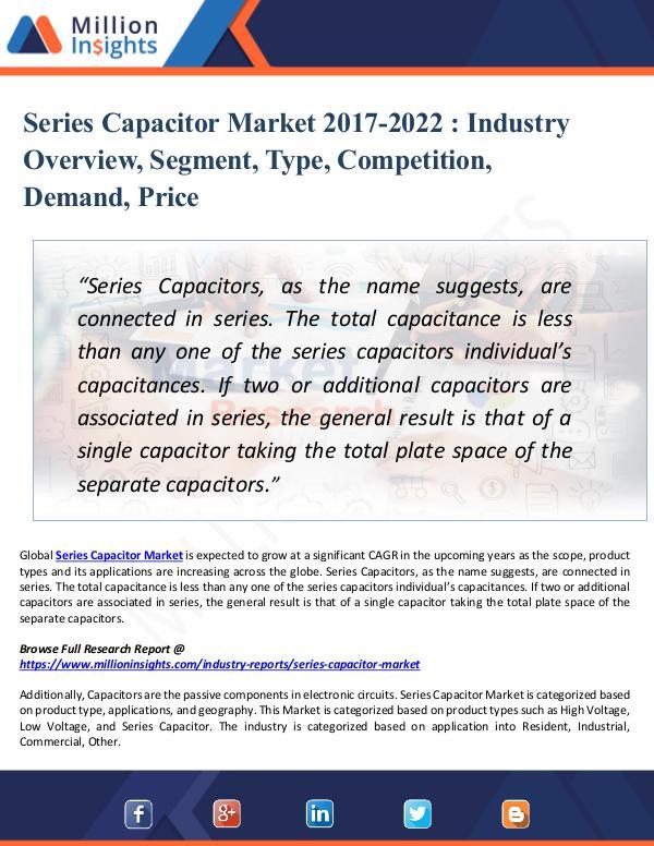 Series Capacitor Market 2017-2022 - Industry Trend