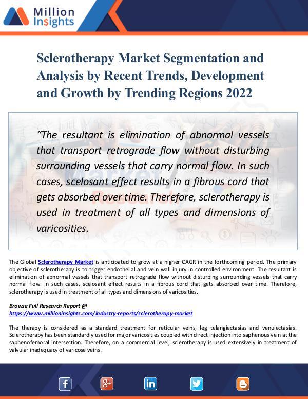 Sclerotherapy Market Segmentation and Analysis