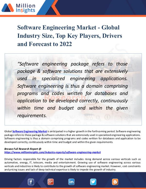 Software Engineering Market - Global Industry Size