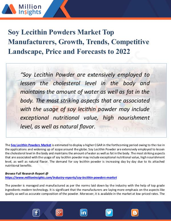 Soy Lecithin Powders Market Top Manufacturers