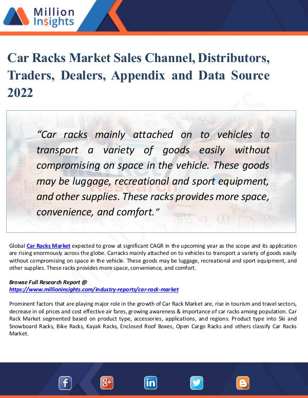 Car Racks Market Sales Channel, Distributors, Trad