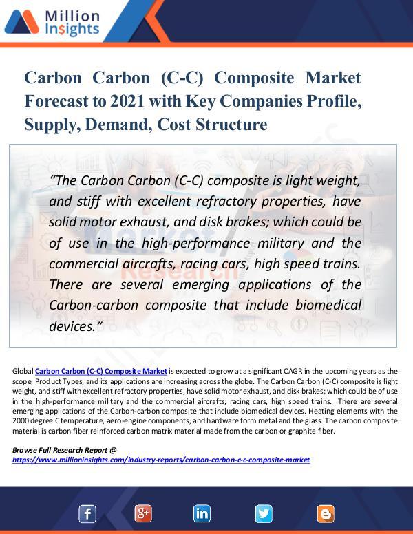 Carbon Carbon (C-C) Composite Market Forecast 2021