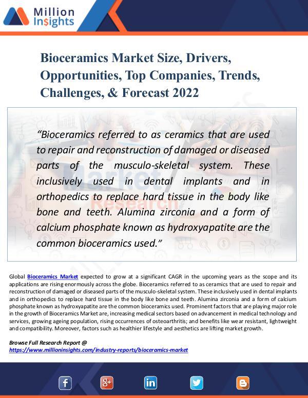 Bioceramics Market Size, Drivers, Opportunities