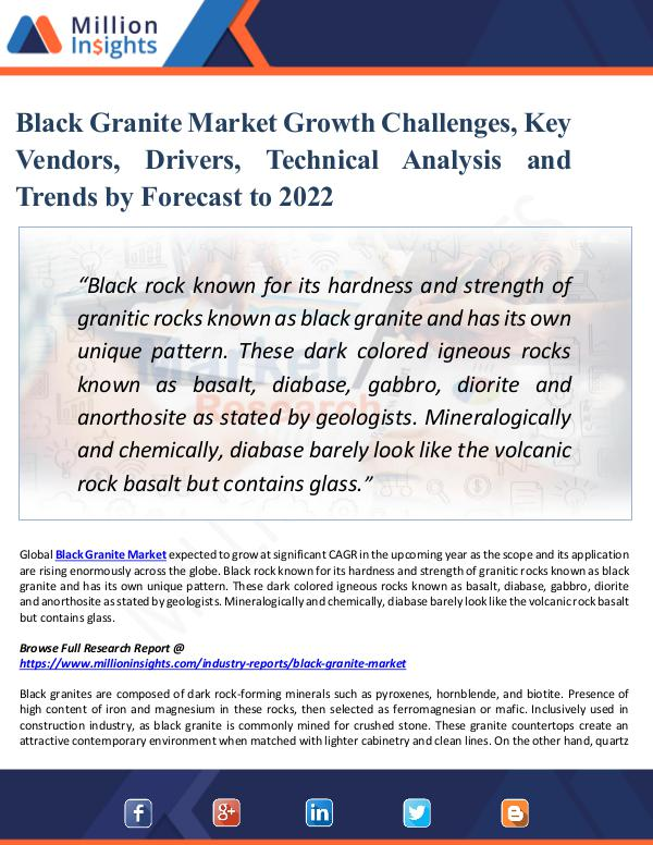 Black Granite Market Growth Challenges, Key Vendor