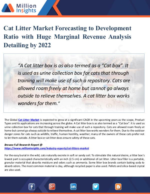Cat Litter Market Forecasting to Development Ratio