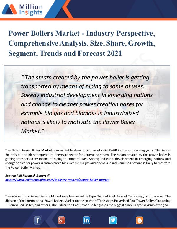 Power Boilers Market - Industry Perspective 2021