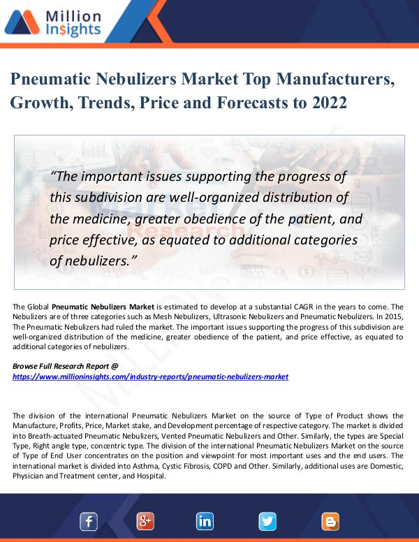 Pneumatic Nebulizers Market Top Manufacturers 2022