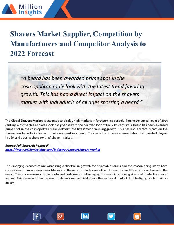 Shavers Market Supplier, Competition by 2022
