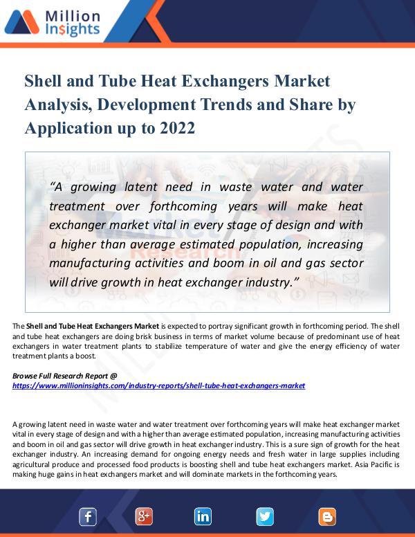 Shell and Tube Heat Exchangers Market Report 2022