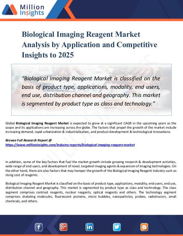Biological Imaging Reagent Market Analysis 2025