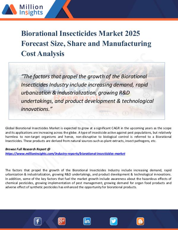 Biorational Insecticides Market 2025 Forecast Size