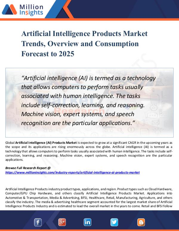 Artificial Intelligence Products Market Trends