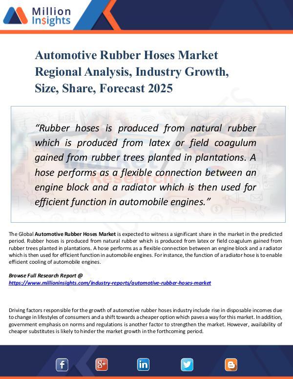 Automotive Rubber Hoses Market Regional Analysis,