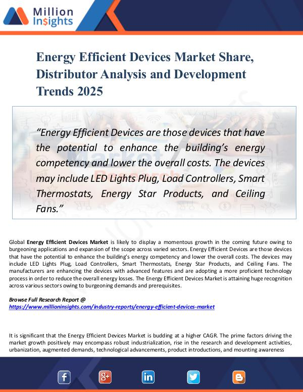 Energy Efficient Devices Market Share, Distributor