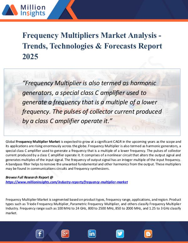 Frequency Multipliers Market Analysis - Trends