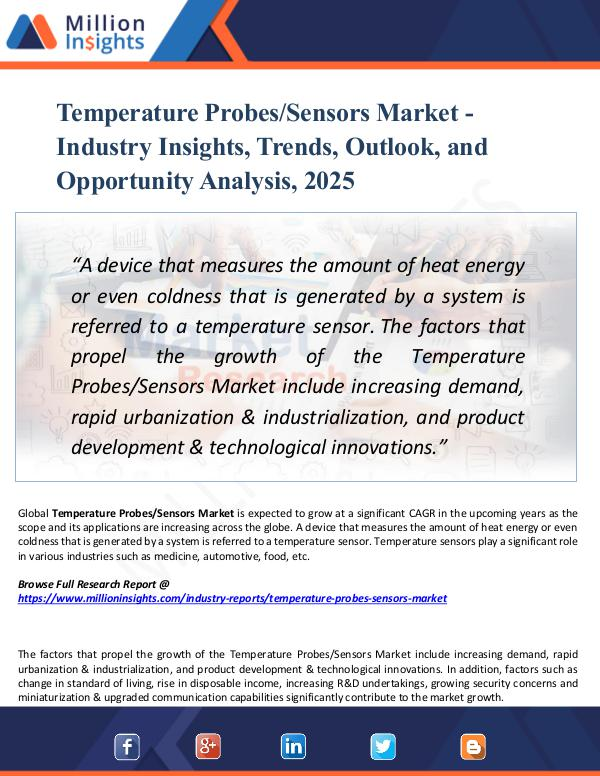 Market Research Analysis Temperature Probes-Sensors Market Report 2025
