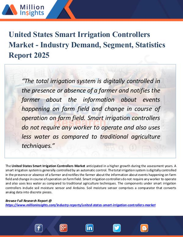 Market Research Analysis United States Smart Irrigation Controllers Market