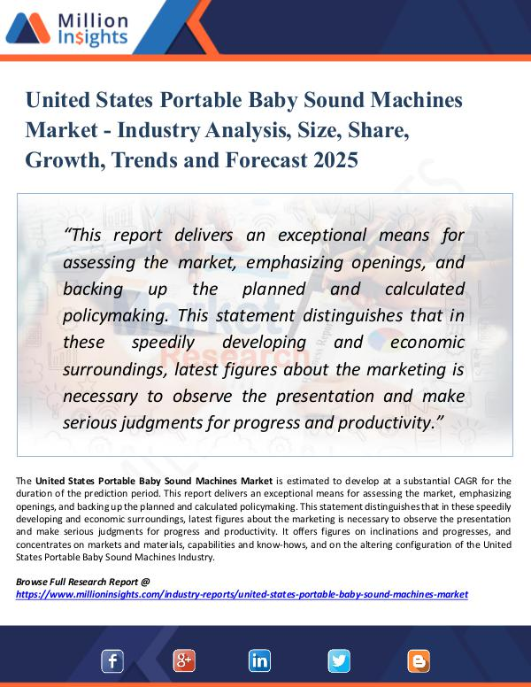 Market Research Analysis United States Portable Baby Sound Machines Market