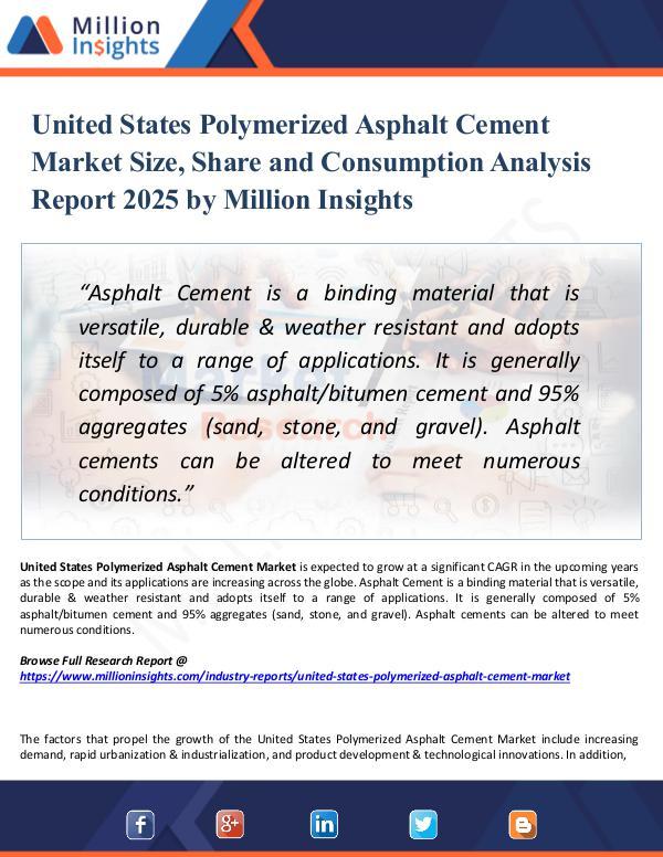 Market Research Analysis United States Polymerized Asphalt Cement Market