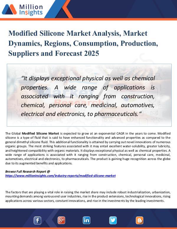 Market Research Analysis Modified Silicone Market Analysis, Market Dynamics