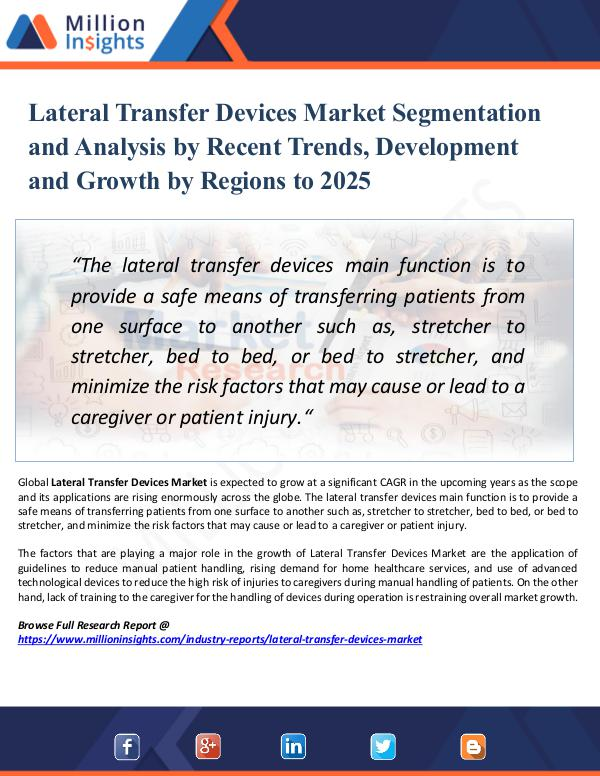 Market Research Analysis Lateral Transfer Devices Market Segmentation 2025