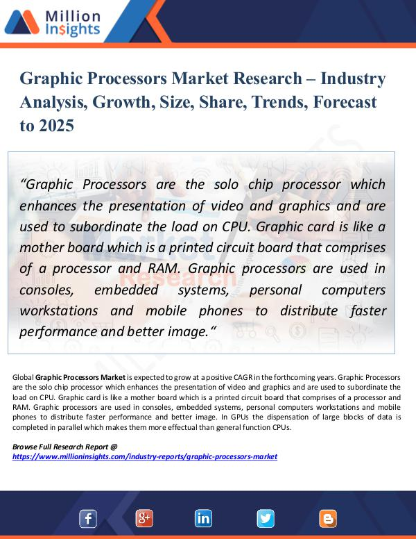 Market Research Analysis Graphic Processors Market Research – Industry Size