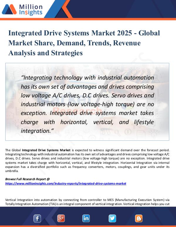 Market Research Analysis Integrated Drive Systems Market 2025 - Report