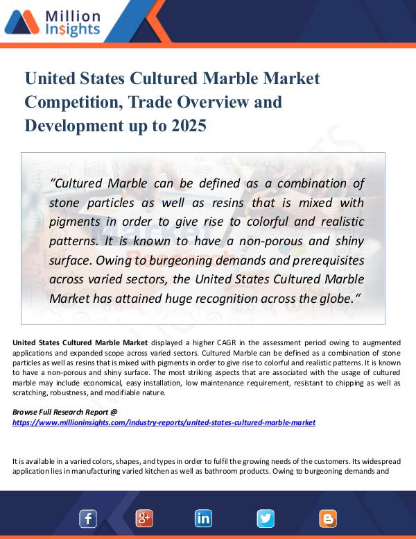United States Cultured Marble Market Competition