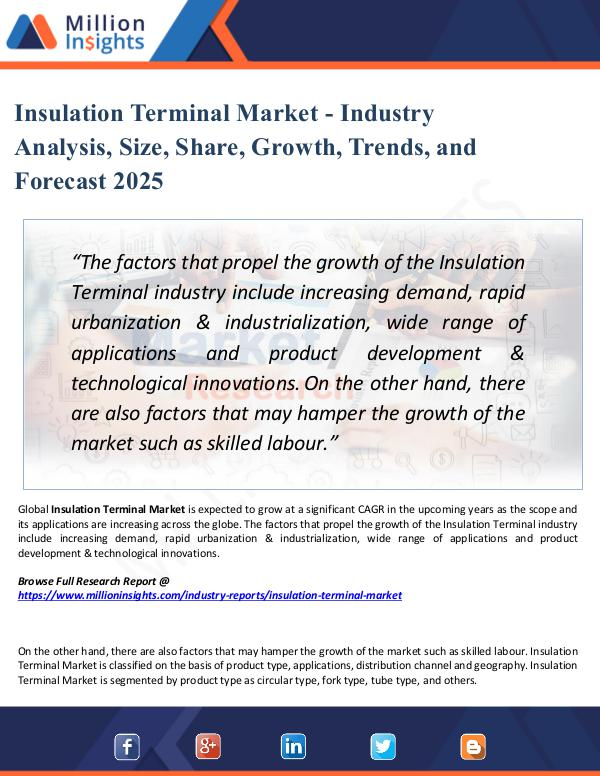 Insulation Terminal Market - Industry Analysis,