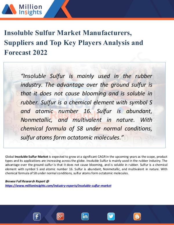 Insoluble Sulfur Market Manufacturers, Suppliers