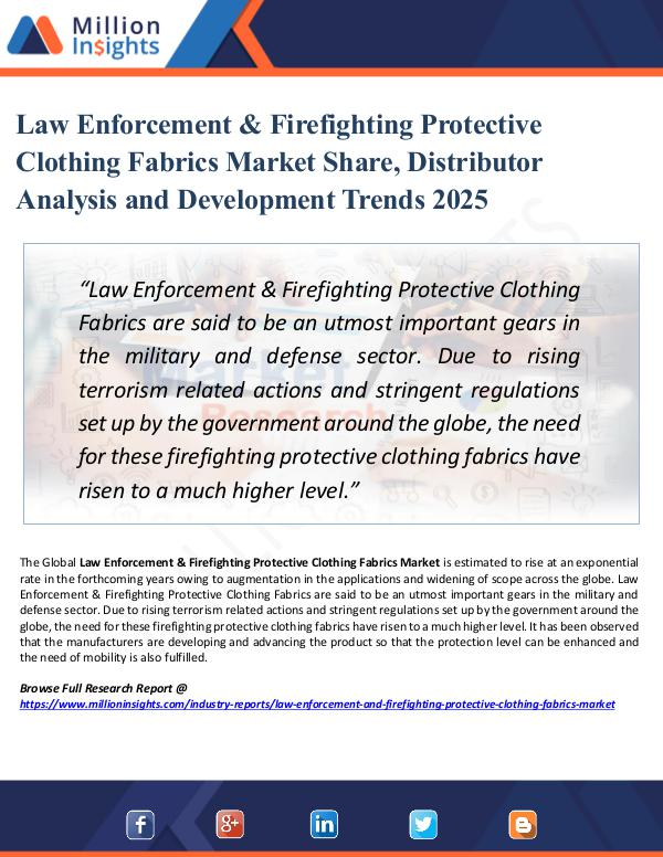 Law Enforcement & Firefighting Protective Clothing