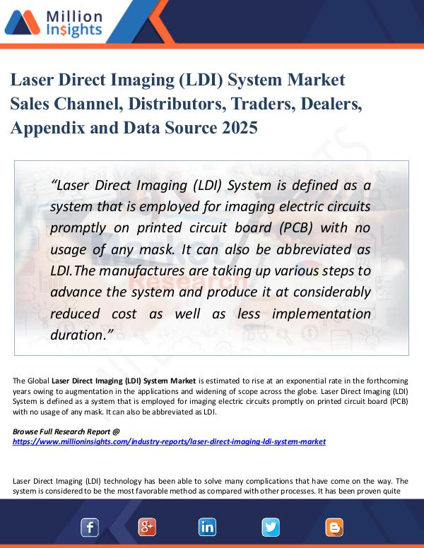 Laser Direct Imaging (LDI) System Market Sales