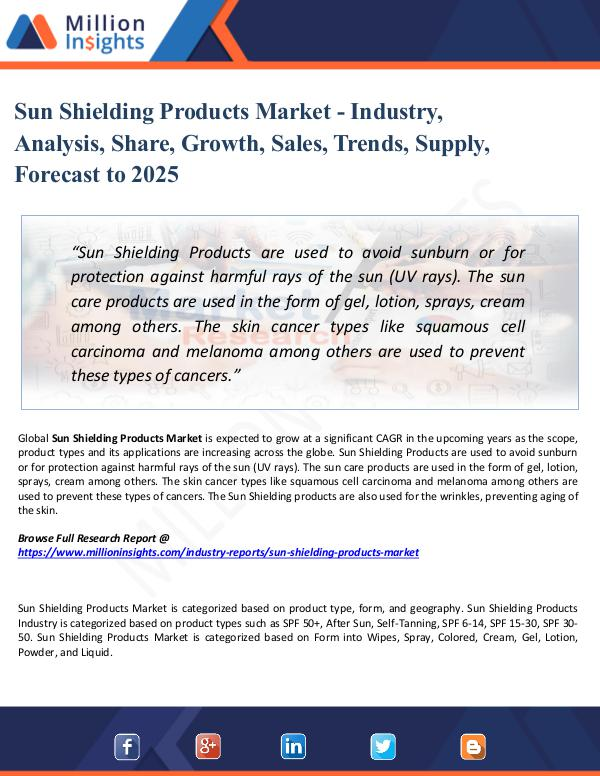 Market Share's Sun Shielding Products Market - Industry, Analysis