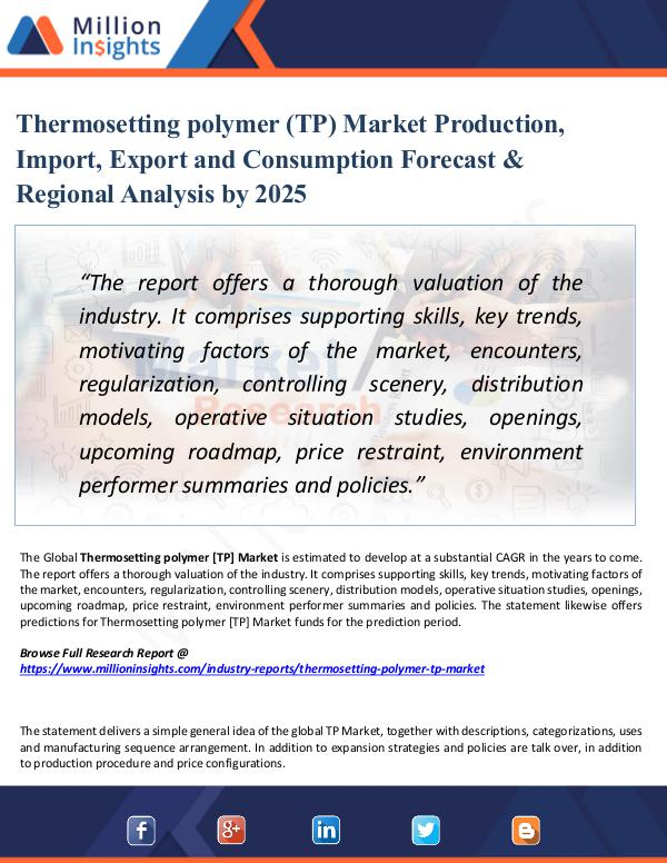 Market Share's Thermosetting polymer (TP) Market Production, 2025