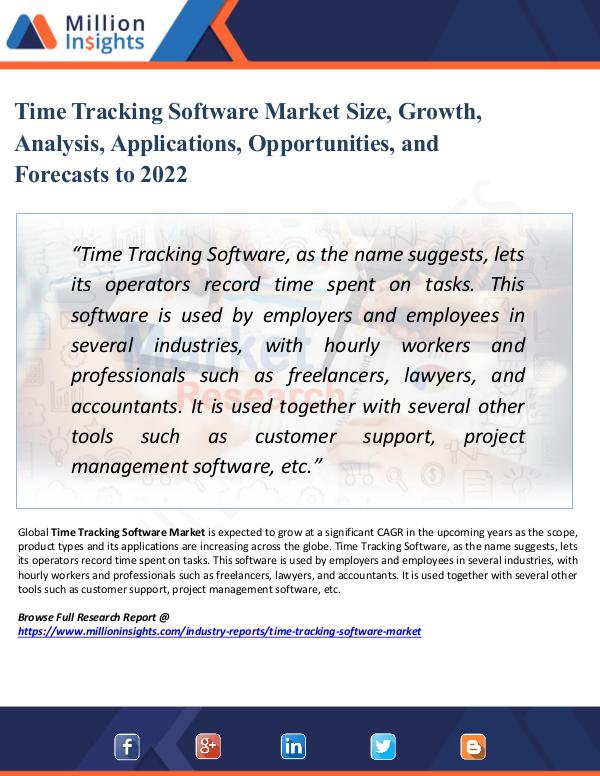 Market Share's Time Tracking Software Market Sales Channel,2022