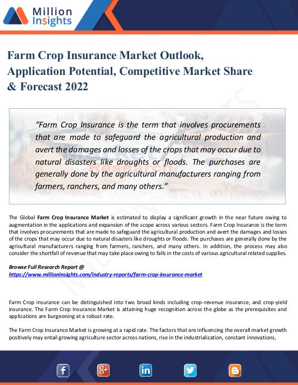 Market Share's Farm Crop Insurance Market Outlook, Application