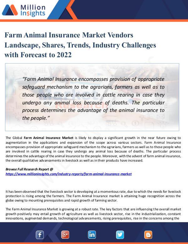 Market Share's Farm Animal Insurance Market Vendors Landscape,