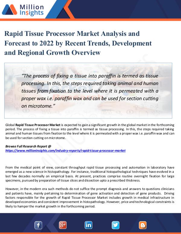 Market Share's Rapid Tissue Processor Market Analysis 2022