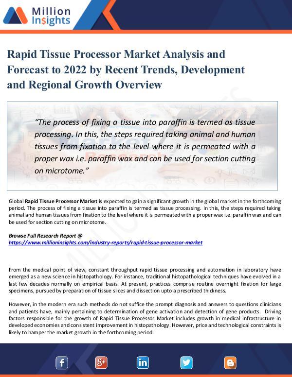 Market Share's Rapid Tissue Processor Market Analysis 2022